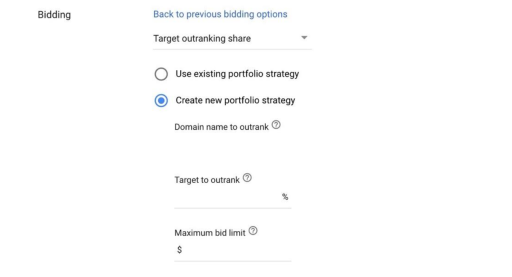 target outranking share
